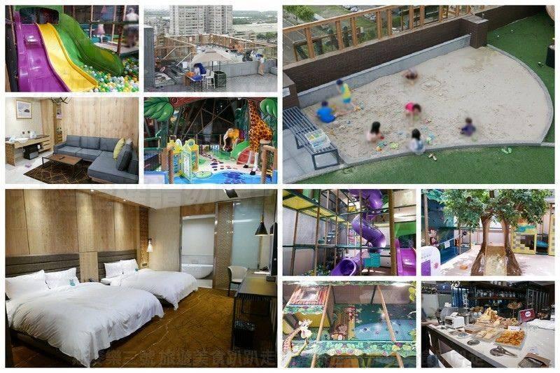 [台南安平] 夏都城旅安平館 百坪室內親子樂園 游泳池 20180816